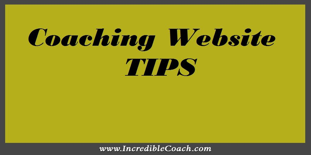 Coaching Website Tips
